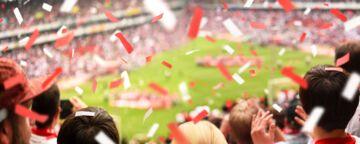 Fußballfans Stadion Jubel